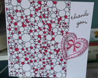 Handmade 'thank you' Greeting Card
