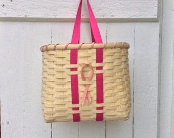 Breast Cancer Tote Basket