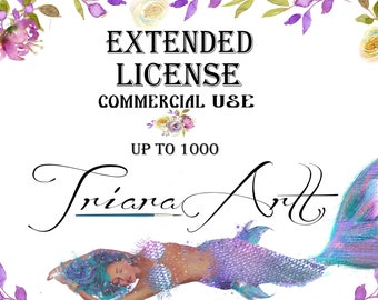 Extended License for Commercial Use No-Cretid for a Single Item Digital Clipart Digital Paper Packs License for Commercial use TriaraArt