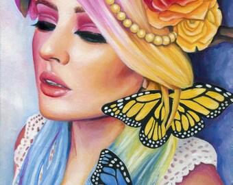Colorful Portrait Oil Painting - Fine Art Print by Emily Luella