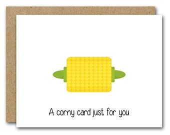 Corny Card, Friend Card, Funny Friend Card, INSTANT DOWNLOAD, Thinking Of You Card, Friendship Card, A Corny Card For You, Humorous Card