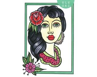 Lady One - A3 print
