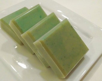 Cucumber Wasabi Cilantro Soap - Green Soap - Yellow Green Soap Bar - Unisex Soap for Men or Women - Citrus Scented Soap - For Him or Her