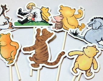 Cupcake Toppers - Winnie the Pooh,INSTANT DOWNLOAD,Cake Toppers,Printables,Pooh Birthday,Winnie the Pooh,Winnie the Pooh Baby Shower