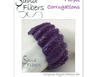 Purple Corrugations Peyote Cuff - A Sand Fibers For Personal/Commercial Use PDF Pattern