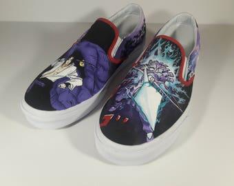 Custom Sasuke Painted Shoes
