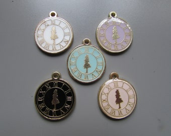 Alice in wonderland charm pendant 5 colours to choose