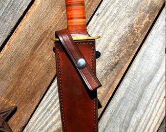 "Randall #1 7"" Custom Leather Knife Sheath"
