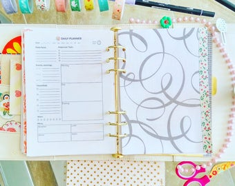 Daily Planner Half Letter Printable Inserts Filofax Inserts Daily Plan Day Organizer Planner Inserts Undated Planner To Do List Downloadable