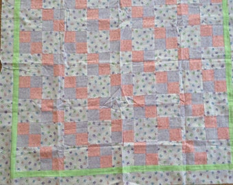 Pastel Butterfly and Flowers Quilt Top