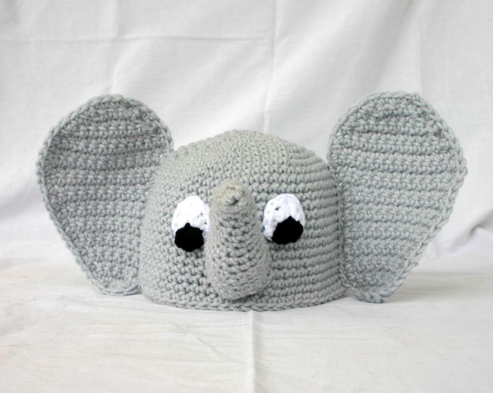 Baby toddler elephant hat PDF Crochet PATTERN 6-36 months beanie ...