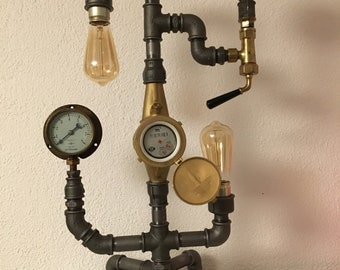 Steampunk Vintage Pipe Lamp