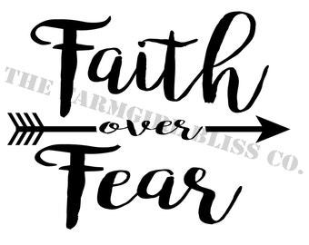 I NS T A N T download Faith OVER fear 8x10 digital art