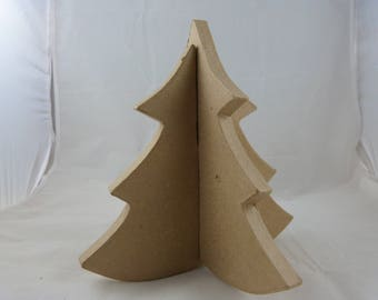 Tree of cardboard in 3D to assemble and decorate for Christmas