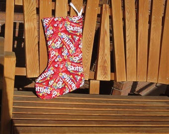 Christmas Stocking - Skittles - Made With Hard To Find Fabric