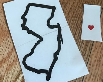New Jersey State Decal - Free Shipping