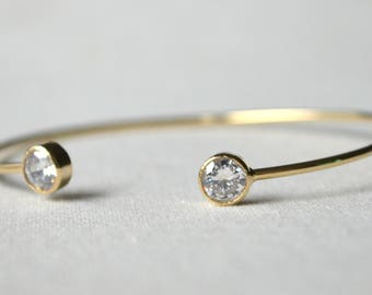 Bracelet jonc métal doré