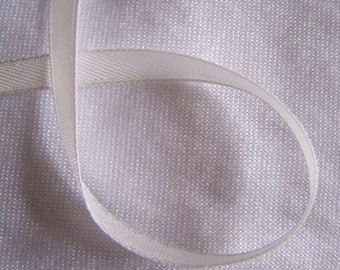 Satin ribbon, single sided, white milk (S-042)