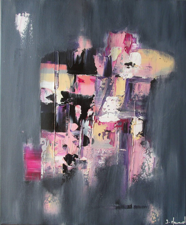 Peinture acrylique Rose Violet Gris Noir Blanc
