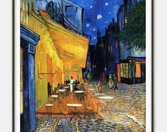 The Café Terrace on the Place du Forum by Vincent van Gogh - Giclee Print - Fine Art Reproduction