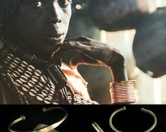 The Golden Hamer bracelet is 100% authenticly handmade by the people of the Hamer tribe in Ethiopia