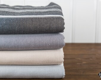 XL Basic Turkish Towel, Throw, Blanket, Peshtemal, Cotton Turkish Towel, Fouta, Bridesmaid Gift, Hammam Towel