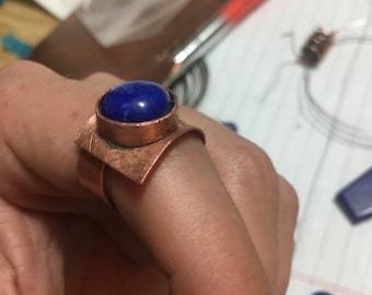 Lapis Lazuli copper ring