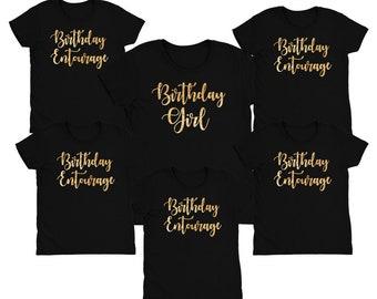 Birthday Entourage Shirt // Birthday Girl Shirt // Birthday party shirts // Birthday group shirt // View Item details for order instructions