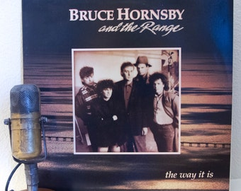 "Bruce Hornsby Vinyl Record Album LP Vintage 1980s Rock and Roll Grammy Winner ""The Way It Is"" (1986 Rca re-issue w/""Mandolin Rain"")"