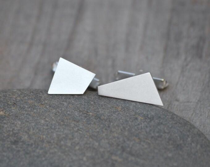 Quadrilaterals Cufflinks In Sterling Silver Handmade In England