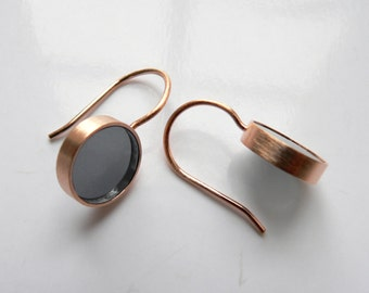 elegant minimalist earring Rosé grey