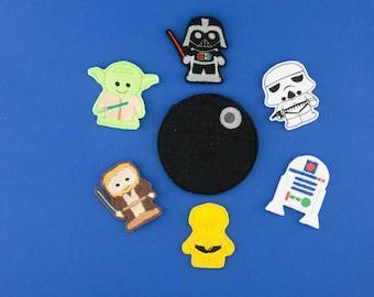 Disney's Star Wars inspired Finger Puppet Set, star wars gift, c3po, yoda, darth vader, storm trooper, r2d2, obiwan kanobi, death star, nerd