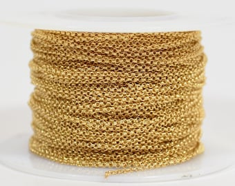 1mm Rolo Chain - Gold Plated - 1.0mm Links - CH130