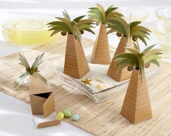 24 Palm Tree Favor Boxes Tropical Beach Party Favors Wedding Favor Boxes