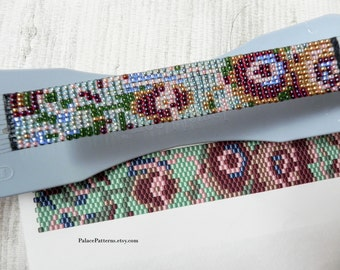Kit for Size 8/0 Miyuki Seed Beads - Bead Loom or Peyote Stitch Beadweaving Bracelet Kit P29 - Fast and Easy - 101 for 8 Beads