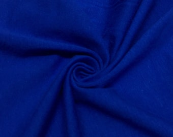 """Royal Blue Cotton Jersey Lycra Spandex Knit Stretch Fabric 58/60"""" wide All colors"""
