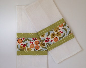 Kitchen Towel - Tea Towel - Botanic tea Towel  - Dish Towel - Kitchen Dish Towel - Bridal Shower Gift