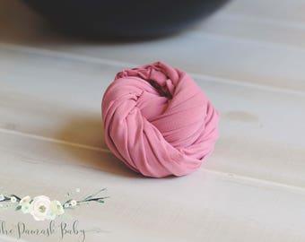 Newborn Jersey Wrap, Newborn Stretch Wrap, Photography Prop, Newborn Photo Prop, Mauve Wrap, Antique Rose Wrap, Jersey Knit Wrap Prop