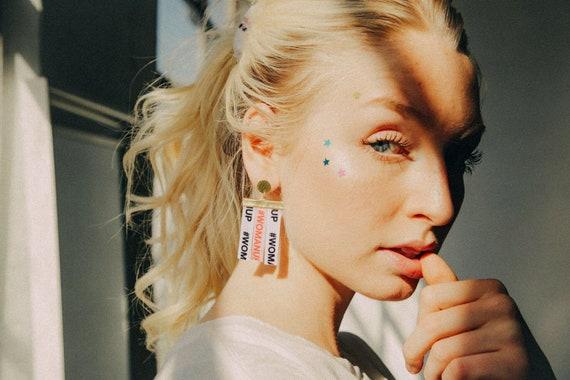 Woman up dangle Earrings