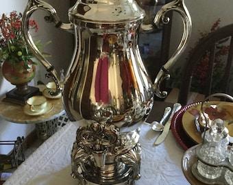Stunning FB Rogers Victorian Silverplate Samovar/Coffee/Water Pot-Spiget-Ornate Baroque Serving
