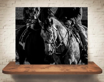 Horse Photograph - Fine Art Print - Black White Photography - Equine Wall Art - Wall Decor -  Horse Pictures - Horse Racing - Horses