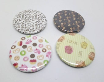 Set of 4 magnets 37mm decorative