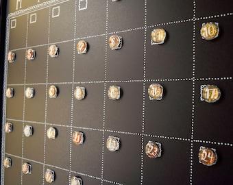 Glitter Calendar Magnets, Metallic Calendar Numbers, Magnetic Calendar Magnets, Monthly Calendar Number Magnets, Dry Erase Calendar Magnets
