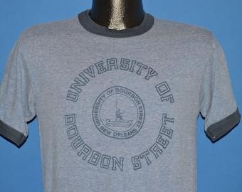 80s University of Bourbon Street Ringer t-shirt Small
