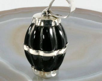Onyx in 925 sterling silver, pendant - 6347