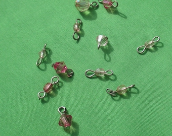 Lot Of Salvaged Pink Beaded Dangles