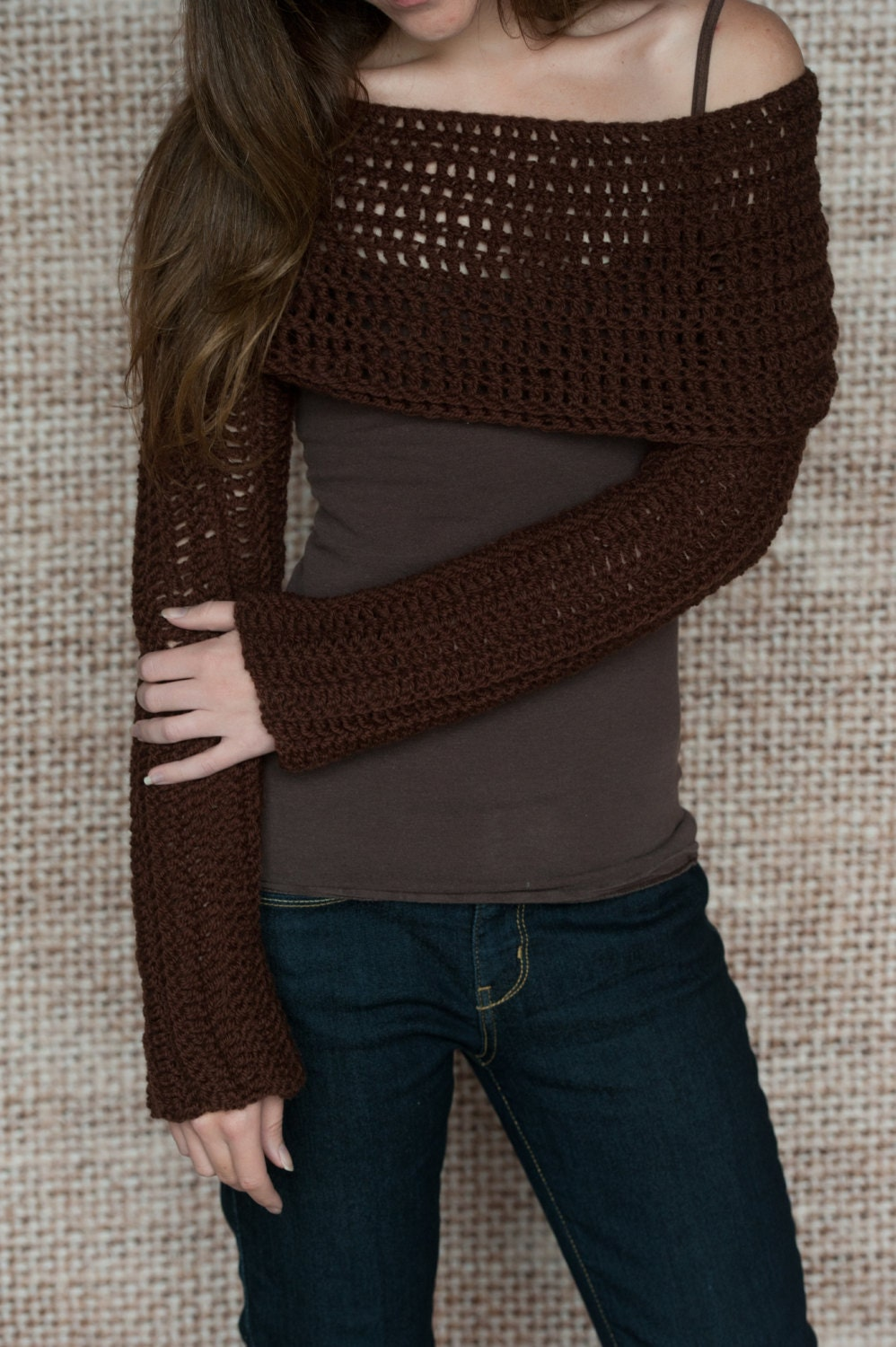 Crochet Pattern Sleeve Wrap Scarf Instand Download PDF