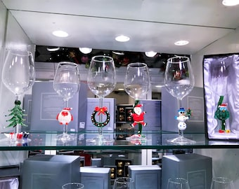 Season's Design Goblet Assorted W/Christmas Characters (Set of 6) SD-97100000000