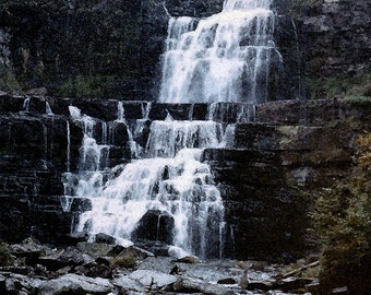 Digital Art Print of Waterfall in upper New York State 24 X 36