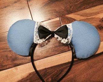 Classic Alice Ears, Custom Minnie Ears, Disney Inspired Mickey Ears
